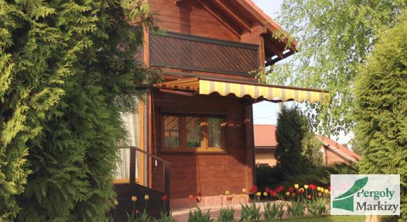 Маркиза MHZ Classic для загородного деревянного дома, общий вид фасада