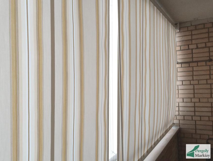 Вертикальная маркиза на лоджии в квартире