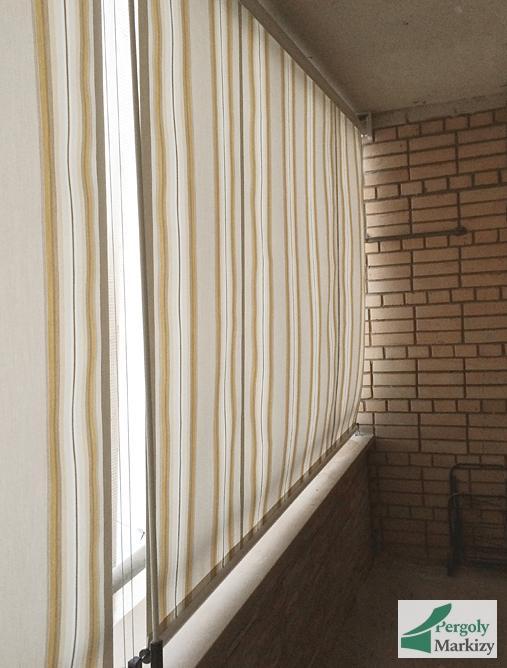 Вертикальная маркиза MHZ LOGGIA балкон