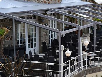 Пергола алюминиевая для кафе и ресторанов KE A1