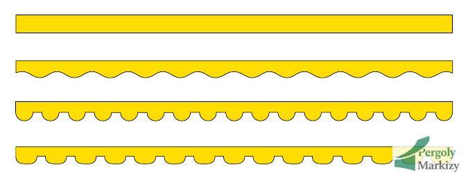 Различные формы воланов маркизы