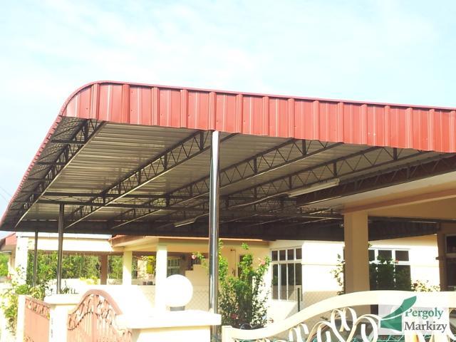 Металлический навес над террасой