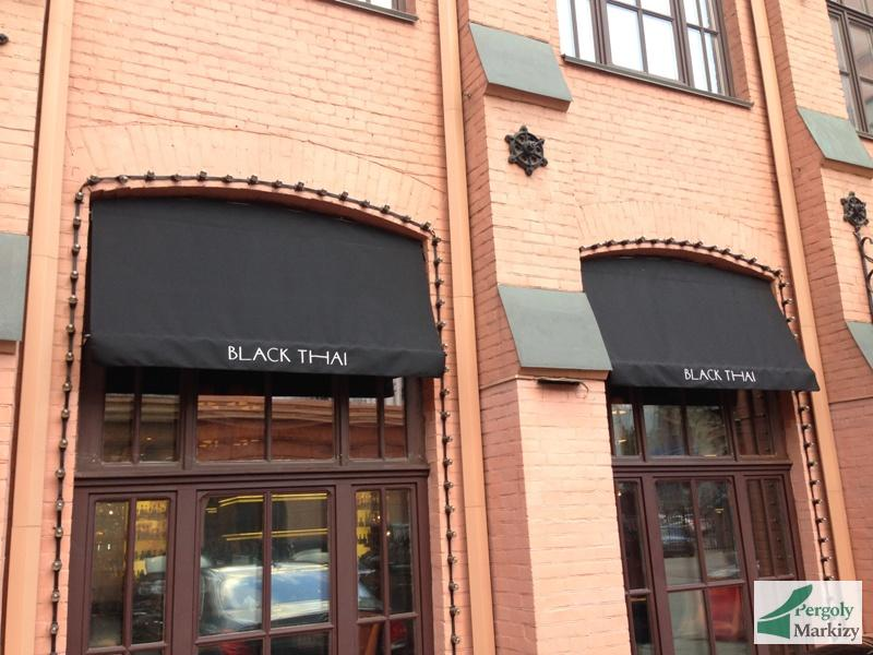 маркизы для ресторана BLACK CHAI