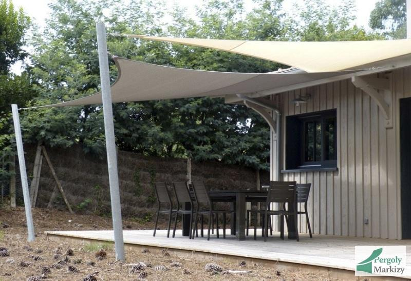 Commercial building shade sail