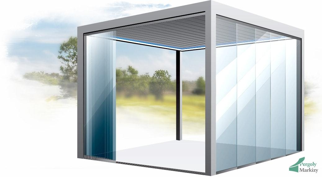 Остекление балкона, окна, витрины маркизами - подъемные окна